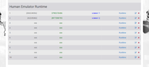 таблица с RT версиями в кабинете пользователя